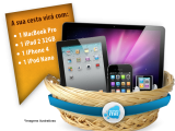 Que tal concorrer a uma cesta com produtos da Apple?
