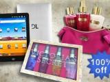 Você escolhe: Quer ganhar 1 Tablet ou 1 Kit Victoria's Secret?