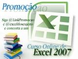 Concorra a um Curso Online de Excel