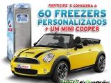Concorra a um mini Cooper e 60 Freezers personalizados
